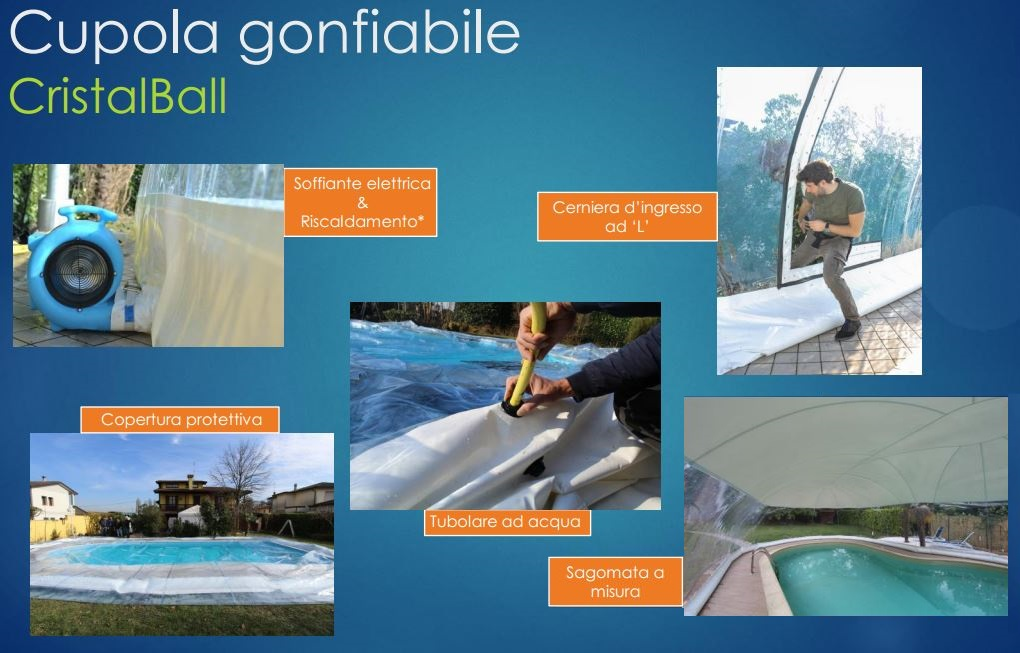 Coperture Gonfiabili per piscine CristalBall cupola