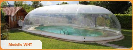 Copertura Gonfiabile per piscina CristalBall mod. WHT