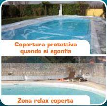 Coperture Gonfiabili per piscine CristalBall sgonfia