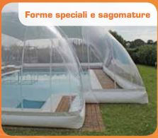 Coperture Gonfiabili per piscine CristalBall sagomabili