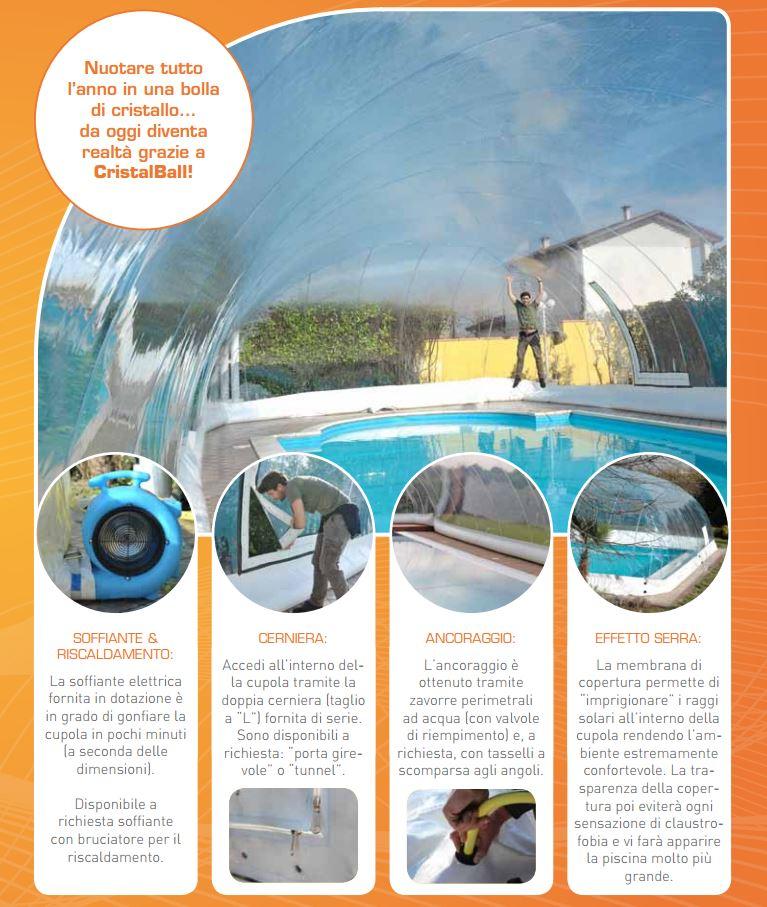 Coperture Gonfiabili per piscine CristalBall