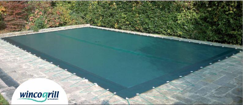 Copertura invernale piscina drenante wincogrill prezzo mq for Teli per piscine interrate